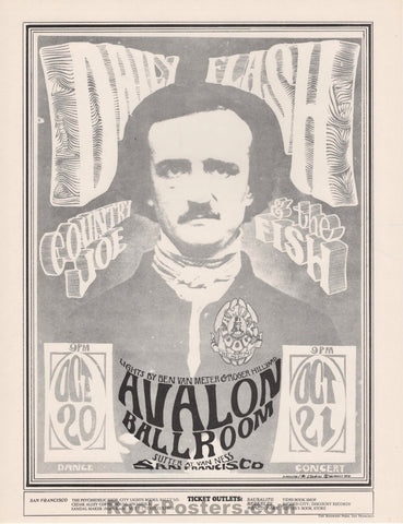 AUCTION - FD-31 - Country Joe and the Fish Variant 1966 Handbill - Avalon Ballroom - Mint
