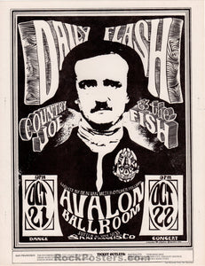 AUCTION - FD31 - Country Joe & Fish 1966 Original Handbill - Avalon Ballroom - Condition - Near Mint Minus