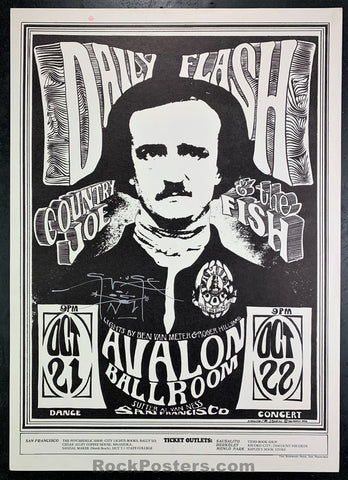 FD31 - Daily Flash Signed Poster - Avalon Ballroom - Condition - Excellent