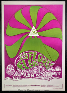 AUCTION - FD34 - 13 Floor Elevators 1966 Poster - Avalon Ballroom - Condition - Near Mint