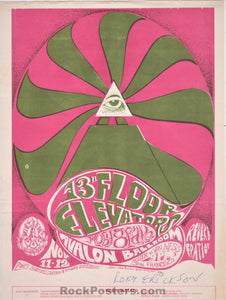 AUCTION - FD-34 - 13th Floor Elevators Handbill - Roky Erickson SIGNED - Avalon Ballroom - Excellent