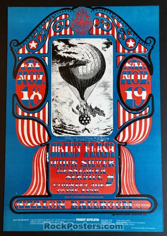 AUCTION - FD-35 - Quicksilver Messenger Service - Stanley Mouse Signed 1966 Poster - Avalon Ballroom - Mint