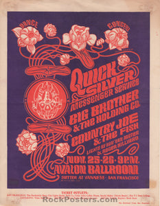 FD36 - Quicksilver Messenger Service Handbill - Avalon Ballroom - Condition - Excellent