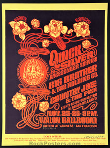 AUCTION - FD36 - Big Brother Janis Joplin QMS Moscoso Signed - Avalon Ballroom - Condition - Mint