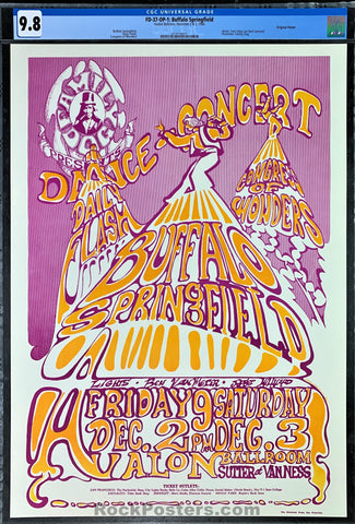AUCTION -  FD37 - Buffalo Springfield Poster - Avalon Ballroom - Condition - CGC GRADED 9.8