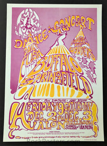 AUCTION - FD-37 - Buffalo Springfield - 1966 Poster - Avalon Ballroom - Mint