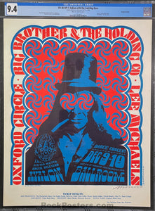 FD-38 - Big Brother Janis Joplin - Moscoso Signed - 1966 Poster - Avalon Ballroom - CGC 9.4