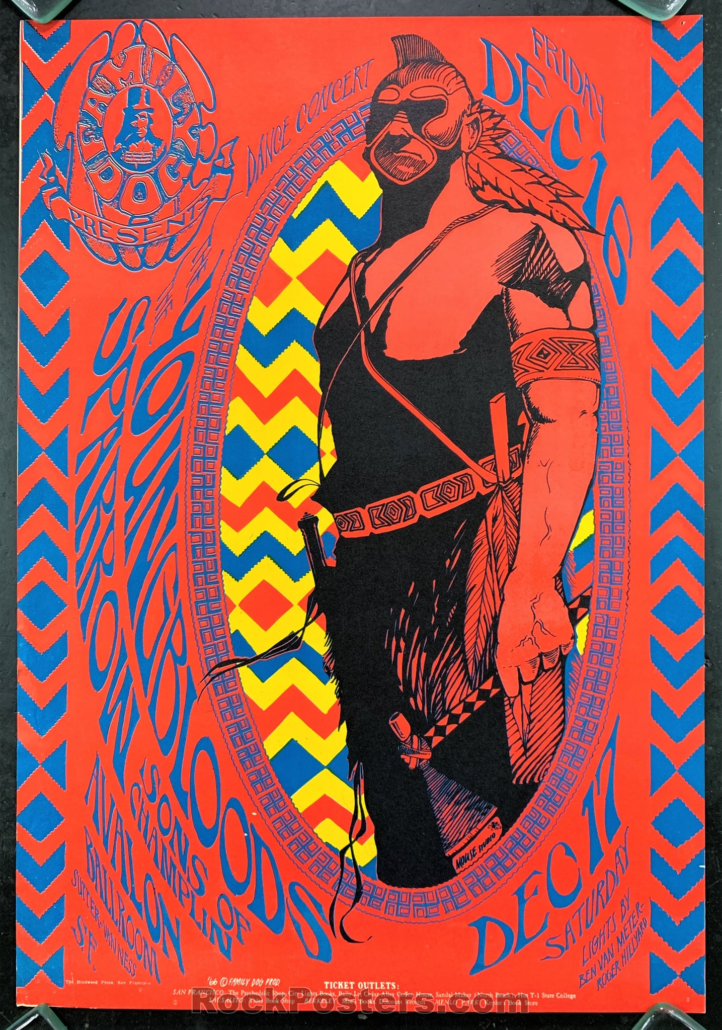 AUCTION - FD39  -  Youngbloods 1966 Original Poster - Avalon Ballroom - Condition - Excellent
