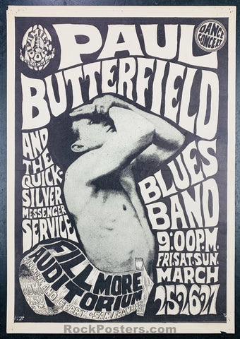 FD3 - Butterfield Blues Band Poster - Fillmore Auditorium - Condition - Good