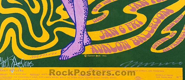 AUCTION -  FD 42 - Chet Helms & Victor Moscoso SIGNED 1967 Concert Poster - Condition  - Very Good