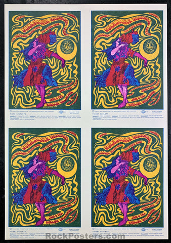 AUCTION - FD42 - Rare Uncut Sheet Of 4 Handbills 1967 - Avalon Ballroom - Condition - Near Mint