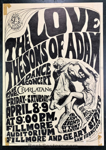 FD4 - Love Poster - Fillmore Auditorium - Condition - Very Good