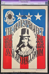 FD-5 - Blues Project - 1966 Poster -  Wes Wilson Signed - Avalon Ballroom - CGC Restored Grade - 9.2