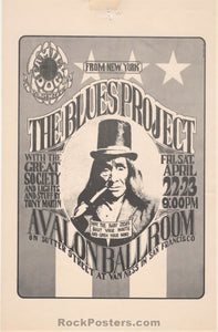 FD-5 - Blues Project 1966 Handbill - Avalon Ballroom - Condition - Very Good