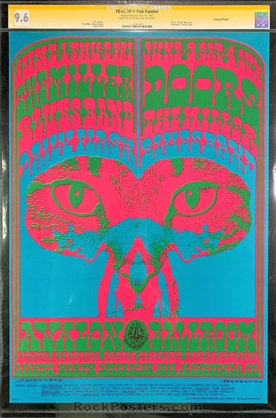 FD64 - The Doors Signed Poster - Avalon Ballroom - Condition - CGC Graded 9.6