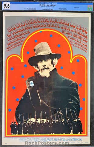 FD-77 - Big Brother & The Holding Company Poster - Avalon Ballroom - Condition - CGC Graded 9.6