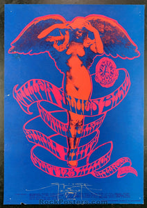 AUCTION - FD 78 - Steve Miller, Mouse Signed Poster - Avalon Ballroom - Condition - Rough