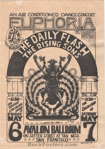 AUCTION - FD7 - Euphoria Rare 1966 Handbill - Avalon Ballroom - Condition - Good
