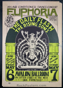FD7 - Daily Flash Poster - Avalon Ballroom - Condition - Rough
