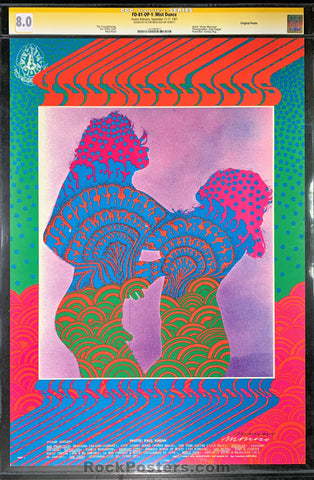 AUCTION - FD-81 - The Youngbloods - 1967 Poster - Moscoso Signed - Avalon Ballroom - CGC Graded 8.0