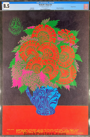 FD-86 - Blue Cheer - 1967 Poster - Moscoso Signed - Avalon Ballroom - CGC Graded 8.5