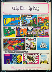 AUCTION - FD 89 - Quicksilver 1967 Original Poster  - Avalon Ballroom - Condition - Excellent