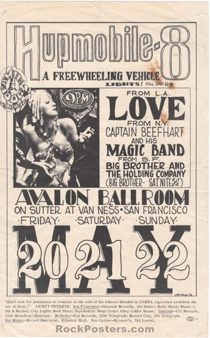 AUCTION - FD9 - Hupmobile Love 1966 Handbill - Avalon Ballroom  - Condition - Very Good
