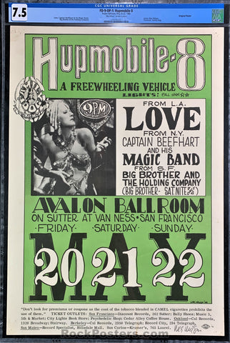 AUCTION - FD9 - Capt. Beefheart Love Wes Wilson Signed Poster - Avalon Ballroom - Condition - CGC Graded 7.5