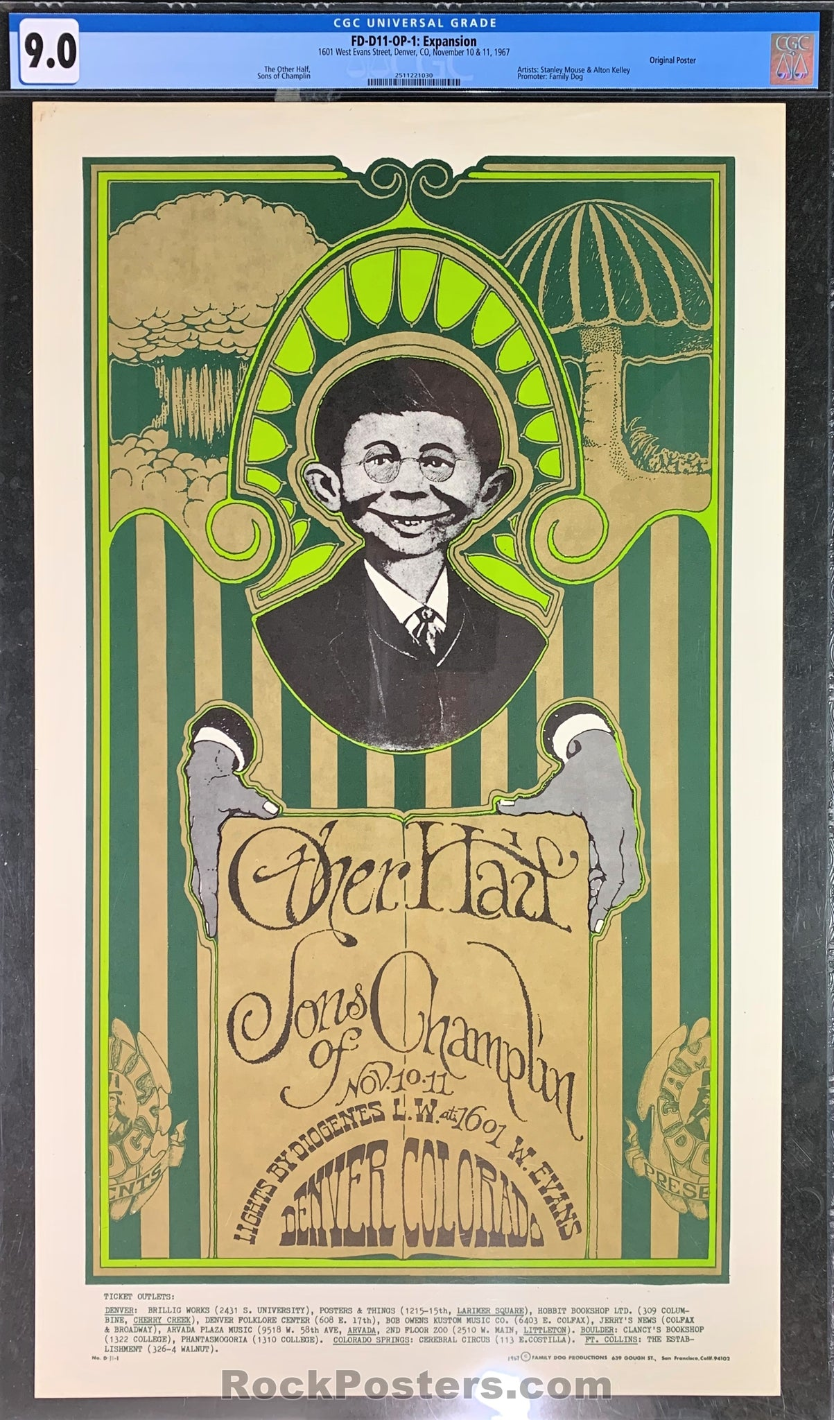 FDD-11 - Son of Champlin Poster - Avalon Ballroom - Condition - CGC Graded 9.0