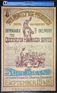 FDD-2 - Quicksilver Messenger Service Poster - Family Dog Denver - Condition - CGC Graded 8.5