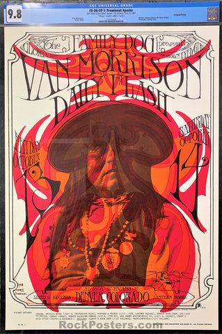 FDD-6 - Van Morrison Poster - Mouse Signed - Family Dog Denver - Condition - CGC Graded 9.8