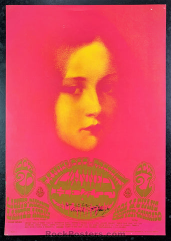 AUCTION - FD-D7 - Canned Heat Moonchild Original Mouse Uniquely Signed Poster - Avalon Ballroom - Condition - Excellent Poster
