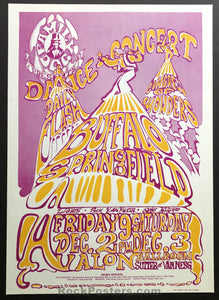 AUCTION - FD37 - Buffalo Springfield Original 1966 Poster  - Avalon Ballroom - Condition - Near Mint