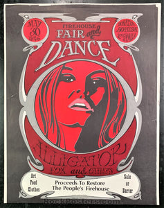 AUCTION - Fair and Dance - Firehouse Benefit Concert 1969 Poster - Very Good