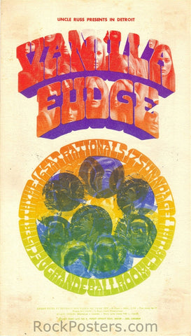 GB14 - Vanilla Fudge Postcard - Grande Ballroom (7-15-Dec-67) Condition - Excellent