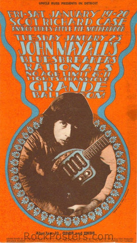 GB19 - John Mayall's Bluesbreakers Postcard - Grande Ballroom 19 (19,20&23-Jan-68) Condition - Near Mint