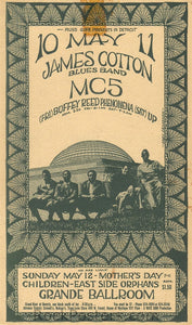 GB35 - James Cotton Blues Band Postcard - Grande Ballroom (03-Nov-67) Condition - Excellent