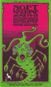 GB40 -Soft Machine Postcard - Grande Ballroom (14-16June-68) Condition - Near Mint