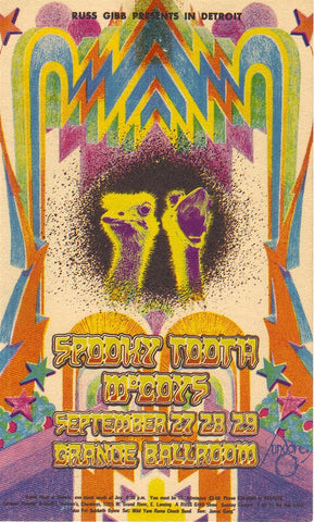 GB55 - Spooky Tooth Postcard - Grande Ballroom (27-29-Sep-68) Condition - Excellent