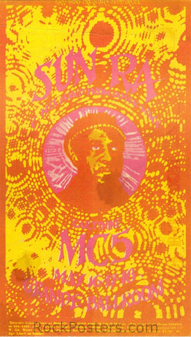 GB80 - Sun Ra  Postcard - Grande Ballroom (16-18-May-69) Condition - Excellent