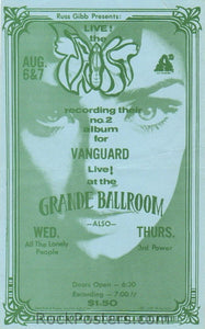 GB81 - Spooky Tooth Postcard - Grande Ballroom (27-Sep-68) Condition - Near Mint