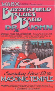 AUCTION - Detroit - Butterfield Dr. John Gary Grimshaw 1972 Handbill - Near Mint