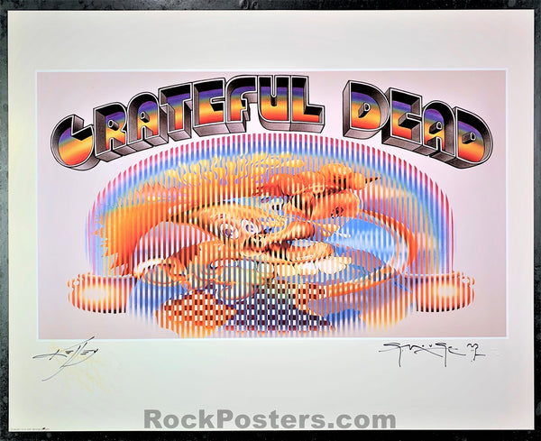 AUCTION - Alton Kelley Collection - Grateful Dead - Europe '72 - Mouse & Kelley Double Signed Poster - Condition - Near Mint