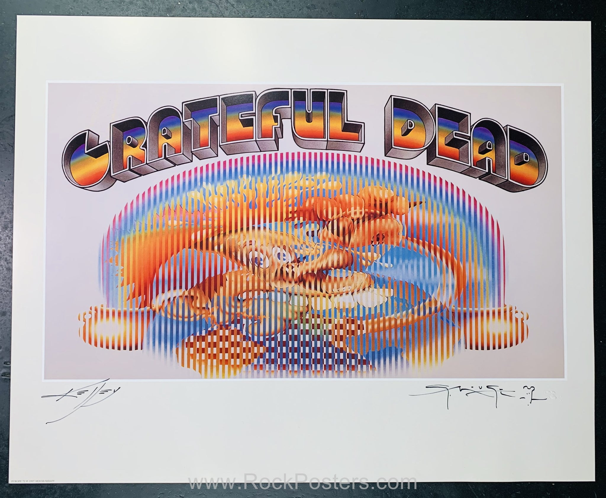 AUCTION - Grateful Dead - Ice Cream Kid Mouse & Kelley Double Signed Poster - Europe '72 - Condition - Near Mint