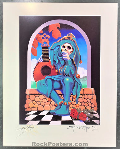 AUCTION - Alton Kelley Collection - Grateful Dead The Jester Poster - Mouse Kelley Double Signed - Condition - Mint