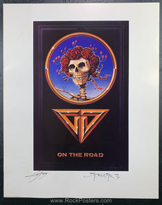 AUCTION - Grateful Dead - On The Road Mouse Kelley Double Signed Poster - Condition - Near Mint