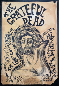 GD Misc. - Grateful Dead 1967 Poster - Whiskey A Go-Go - Condition - Rough