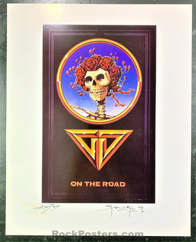 AUCTION - Alton Kelley Collection - Grateful Dead On The Road Poster - Mouse Kelley Double Signed - Condition - Near Mint