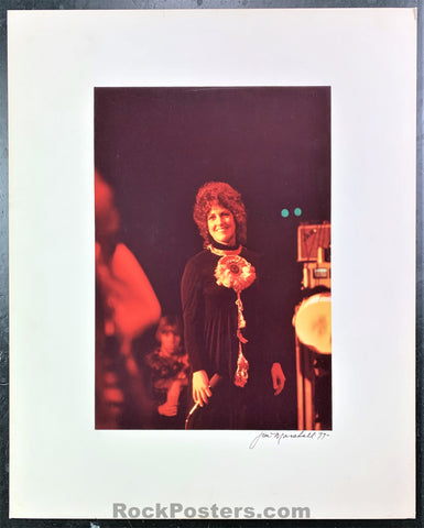 Jefferson Airplane - Grace Slick 1977 Photograph - Jim Marshall Signed - Excellent