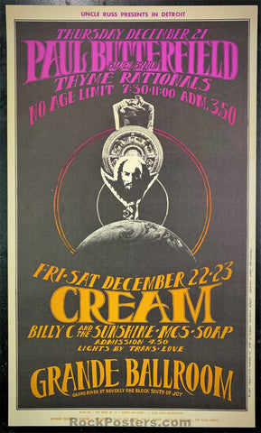 AUCTION - Cream - Ming the Merciless - 1967 Gary Grimshaw Poster - Grande Ballroom - Condition - Excellent